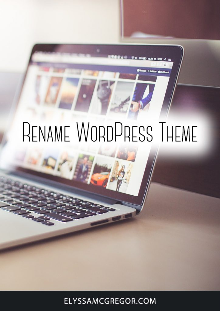 Rename WordPress Theme